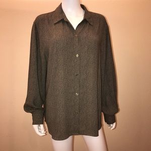 Liz Claiborne Long Sleeve Blouse Button Down